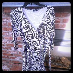 Patty Boutik B&W wrap dress